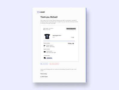 Email receipt. Daily UI #017 email receipt email daily ui dailyui