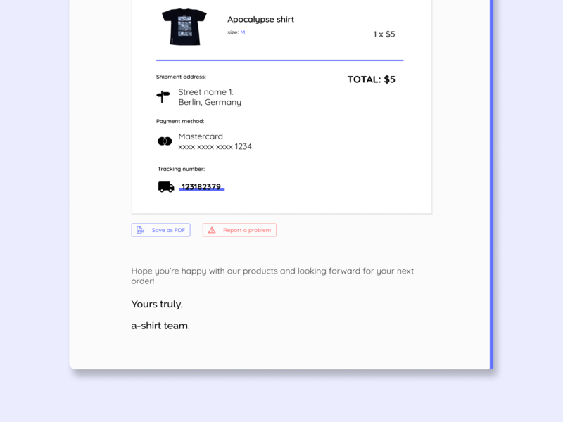 Email receipt Daily UI #017 - part 2 email receipt daily ui dailyui