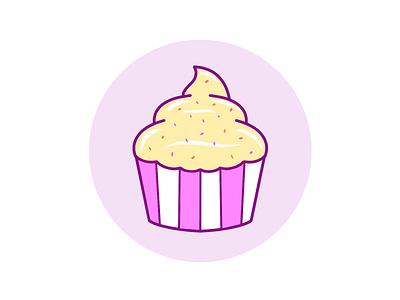 Cupcake cake creative food illustration sweet cupcake logo icon branding design illustration