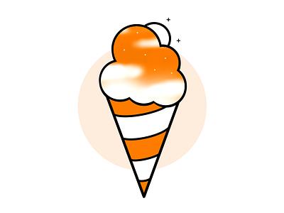 Space Icecream graphicdesign lineart illustration art simple icon logo branding design illustration sky icecream space