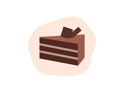Choco Cake design art minimalist minimal clean design clean vector art sweet cake chocolate illustration design logo icon