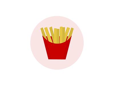 French Fries 🍟 ux flatdesign food illustration french fries graphic design icon branding character design logo illustration