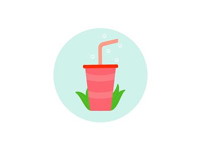 Cold Drink drink illustrator logo design minimalist book cover cover art cold drink design illustration
