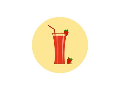 Strawberry juice branding ui design art illustrator fruit drink ux design illustration sketch strawberry