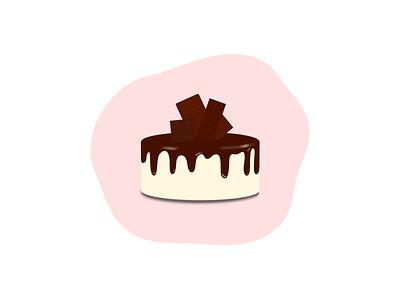 Chocolate Cake dribble designer vector art branding icon design illustration cake chocolate