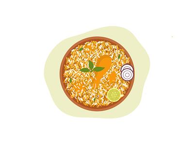 Biryani ux branding graphic design biryani food illustration icon design illustration
