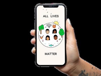 All lives matter! vector illustration nature art vectorart vector illustration blacklivesmatter alllivesmatter dribbble allhands
