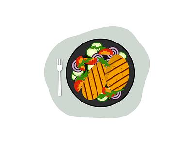 Dinner time vector icon vector art vector illustration food dinner illustration