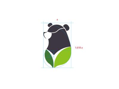 green bear logo moon lohas bear green leaf