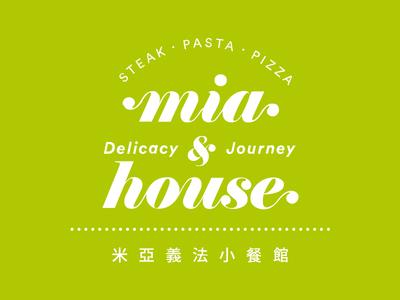 Mia house logo logo restaurant