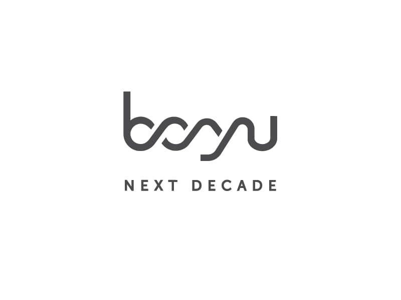 Boyu logo design connect company design boyu decade
