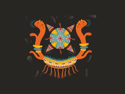 Sayaco Characters eyes monster vector design illustration