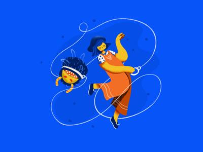 Stop Panicking monster design illustrations covid19 illustration
