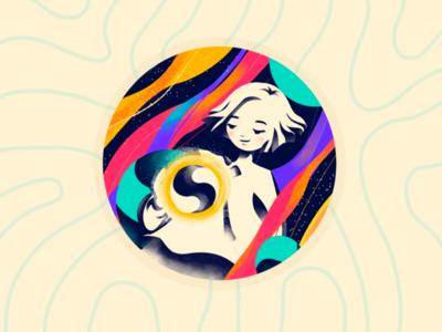 Personal Avatar illustrator adobe illustrator vr ar cyan purple logo glory illustration avatar creation imagination personal
