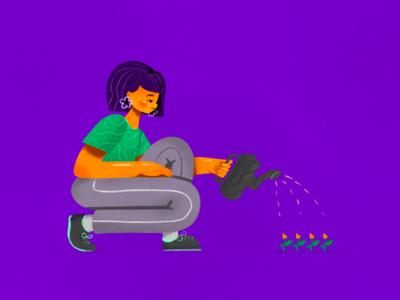 It's progress, be patient. cuteness creative process anxious story illustrations self improvement caring progress personal
