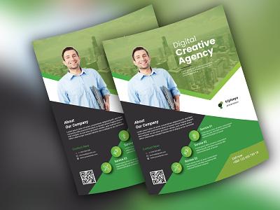 Corporate flyer typography illustration design vector logo branding rollup flyer businesscard bill board