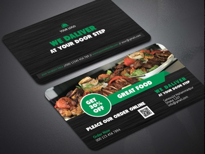 Resturant Business card logo vector design typography branding illustration flyer rollup businesscard bill board