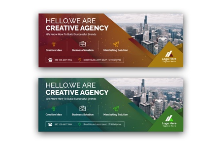Corporate Facebook Cover vector design typography logo illustration branding flyer rollup businesscard bill board