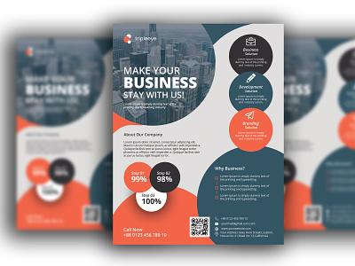 Business Flyer vector design typography logo branding illustration flyer rollup businesscard bill board
