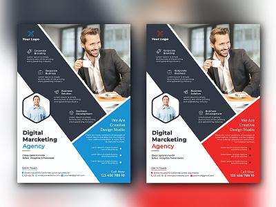 Modern Flyer businesscard branding illustration vector logo typography rollup design bill board flyer