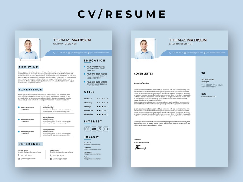 CV/RESUME advertisement illustration typography rollup branding design businesscard flyer