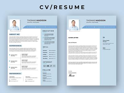 CV/RESUME advertisement illustration typography rollup branding design businesscard flyer
