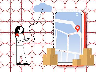 maps minimal search iphone webdesign web google maps maps mobile illustraion flat adobe illustrator