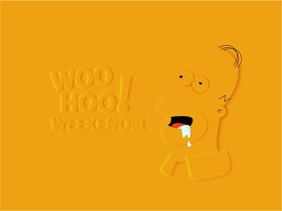 Simpson weekend flatstyle graphic design design branding logo adobeillustator adobe photoshop simpson gomer