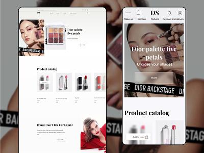 Online  Cosmetics Store makeup artist makeup dior ecommerce design ecommerce app ecommerce branding figma web design uiux mobile ui mobile appdesign app website design web