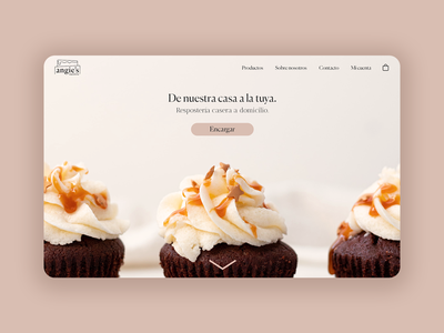 Angie's: Home-made pastries delivery web hero branding ux ui design web