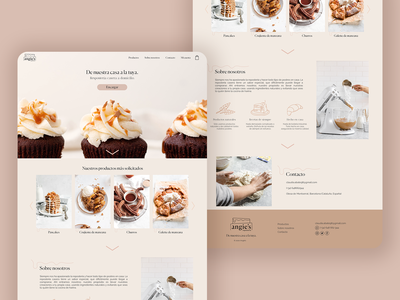 Angie's: Home-made pastries delivery web ux ui design web