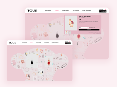 Tous: A different gallery experience for e-commerce web design user experience navigation gallery e-commerce web ux ui design