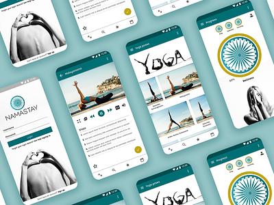 Namastay: Yoga app mobile app mobile app design app branding ui design