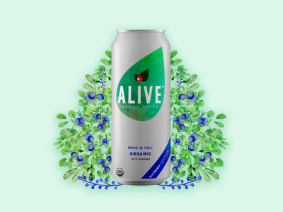 Alive: Energy drink brand visual identity product design mobile app design logo graphic design design branding app design app