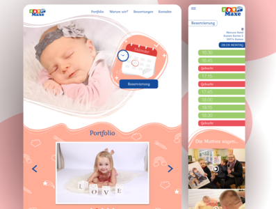 Landing page and adaptive for German photo studio ukraine ux webdesign ui design germany design харків uidesign uiux ui