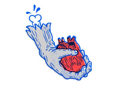 Hand and heart sticker emotion retro proposal marriage love zombie fun valentine valentines day heart hand