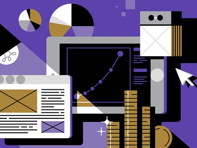 Inc.Russia illustration #1 illustration business internet browser ipad diagram calendar flat shapes money icons magazine