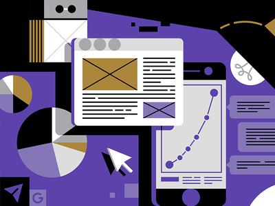 Inc.Russia illustration #2 shapes phone magazine iphone internet illustration icons flat diagram calendar business browser