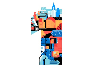 1 silhouette flat figure 36daysoftype letter city typography type 1 number delivery shopfans