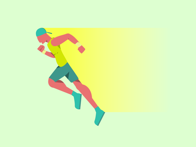 Running graphic design art ux vector ui illustrator flat illustration design