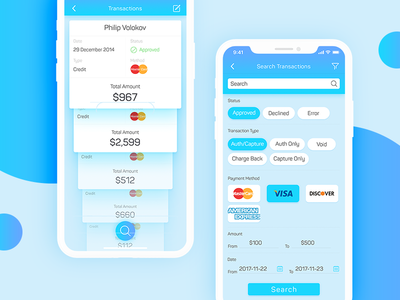 Transaction and search