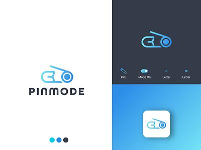 PinMode II Modern Tech Logo identitydesign design techlogo logodesignerforhire illustration flat design modern logo minimalist logo logodesigner mode graphic design branding logo