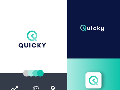 QUICKY II Fast delivery logo buylogo logohire premuimlogo graphic design minimalist logo logodesignerforhire illustration flat design branding logo app