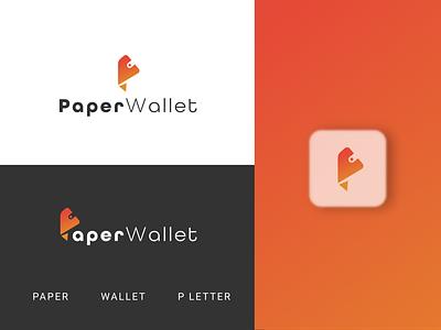 PaperWallet ll Payment Logo Design walletlogo mypaperwallet financelogo paymentlogo logo illustration design modern logo flat design minimalist logo graphic design logodesignerforhire logodesigner branding