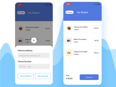 Food Checkout mobile app ux  ui ui uxdesign design clean ui delivery app figma food app delivery food checkout