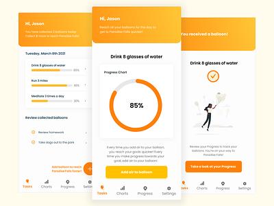 Habit Tracker pixar disney challenge illustration ux  ui dailyui branding uxdesign figma clean ui mobile app habit tracker