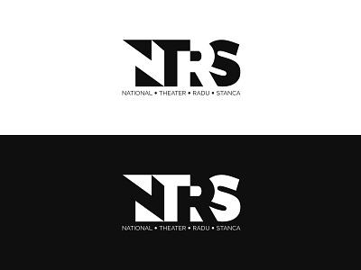 National Theater Radu Stanca brand identity negative space logo negative space logotype minimalist logo logo graphic design adobe illustrator