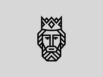 Saint Ladislas branding hungarian vector graphic design adobe illustrator beard crown king lines portrait logo