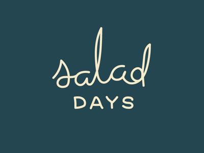 Salad Days days salad freehand loose wordmark logo cursive mono script podcast