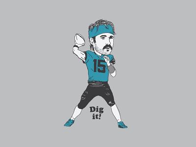 Life's a Gardner ... nfl football portrait jaguars minshew bobblehead